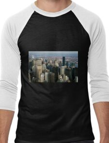Midtown Manhattan Men's Baseball ¾ T-Shirt