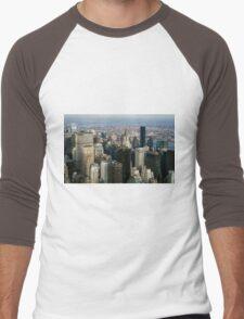 Midtown Manhattan Men's Baseball ¾ T-Shirt
