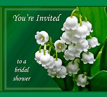 Bridal Shower Invitation - Lily of the Valley by MotherNature