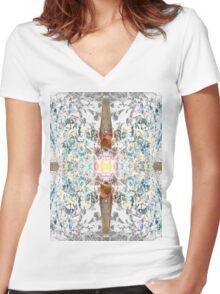 Fruiting Cross Women's Fitted V-Neck T-Shirt