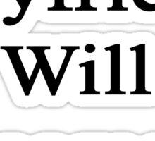 My Boyfriend Will Become A Journalist  Sticker