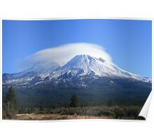 Mount Shasta cloud formation Poster