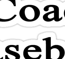 I Coach Baseball Sticker