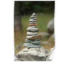 Stacked rocks Poster