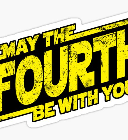 May The Fourth Be With You (sticker) Sticker