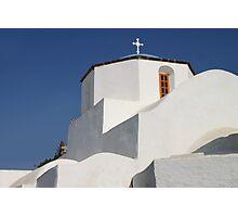 Church Detail in Blue & White Photographic Print