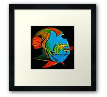 Angel Fish Swimming in the Sea Framed Print