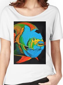 Angel Fish Swimming in the Sea Women's Relaxed Fit T-Shirt