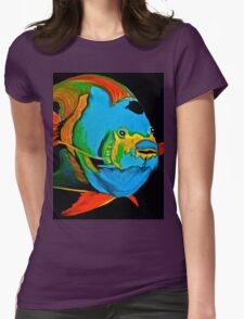 Angel Fish Swimming in the Sea Womens Fitted T-Shirt