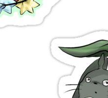 Totoro and Soot Sprite Sticker Sticker