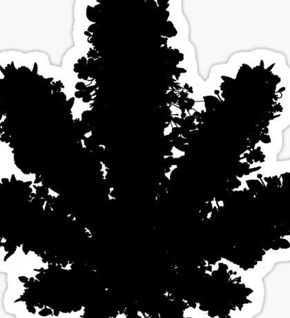 Wildflower - Black Sticker