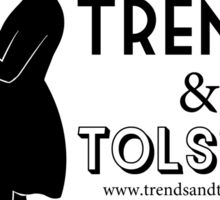 Trends and Tolstoy - B&W Sticker