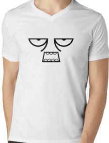 Zombie Face Mens V-Neck T-Shirt