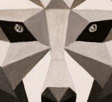 Grey Wolf - Low Poly Sticker