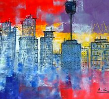 Sydney Cityscape by Angela Gannicott