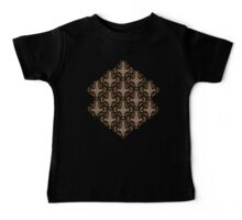Leaf on the Wind Damask Baby Tee