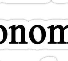 I Am An Economics Teacher  Sticker