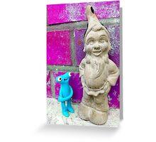 Knubbelding vs. garden dwarf Greeting Card