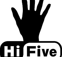 Hi Five Zone handprint T-Shirt & Stickers by Zero Dean