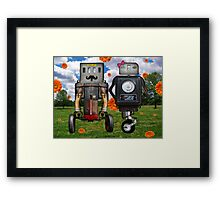 Mr. & Mrs. Robot The Day It Rained Daisies At The Park Framed Print
