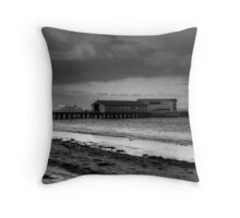 Queenscliff jetty B&W Throw Pillow