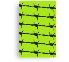 Barbed Wire by Chillee Wilson Canvas Print