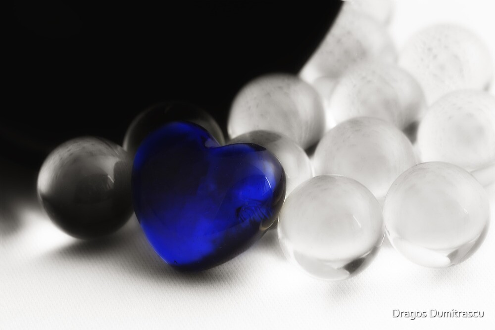 One Blue Heart by Dragos Dumitrascu