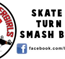 Reef City Roller Girls - Skate Hard, Turn Left, Smash Bitches! Sticker