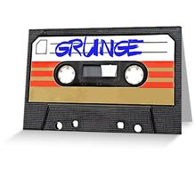 Grunge Music Greeting Card