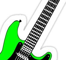 Strat lime green Sticker