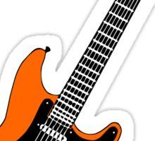 Strat orange Sticker
