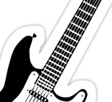 Strat black Sticker