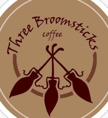 Three Broomsticks logo  Sticker