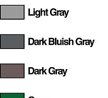 Brick Sorting Labels: Light Bluish Gray, Light Gray, Dark Bluish Gray, Dark Gray, Green by 9thDesignRgmt