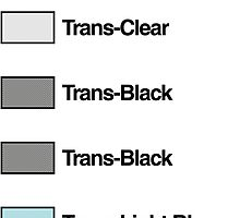 Brick Sorting Labels: Trans Clear, Trans Black, Trans Light Blue by 9thDesignRgmt