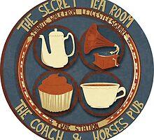 London Secret Tea Room  by Claire Stamper