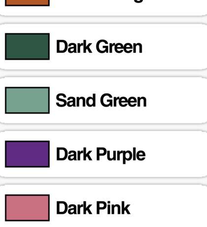 Brick Sorting Labels: Dark Orange, Dark Green, Sand Green, Dark Purple, Dark Pink Sticker