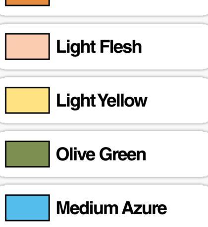 Brick Sorting Labels: Medium Dark Flesh, Light Flesh, Light Yellow, Olive Green, Medium Azure Sticker
