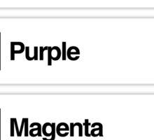 Brick Sorting Labels: Medium Orange, Medium Green, Purple, Magenta, Pink Sticker