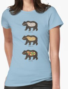 The Eating Habits of Bears Womens Fitted T-Shirt