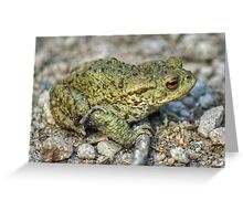 The Toad And The Hitchhiker Greeting Card