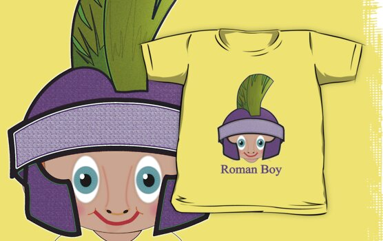 Roman Boy T-shirt design by Dennis Melling