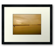 shipping lanes Framed Print