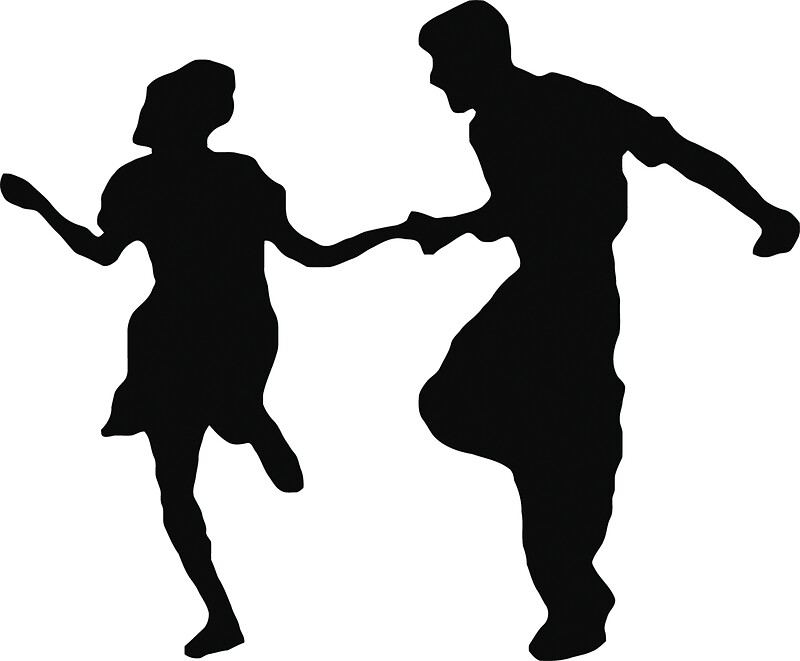 Quot Swing Dancing Couple Quot Stickers By Thejanitormafia Redbubble