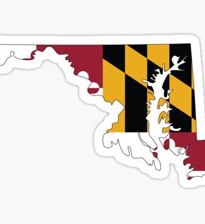 Maryland Flag [Blk]   State Line   SteezeFSC Sticker