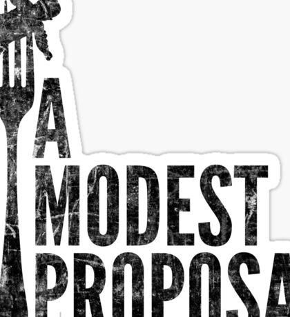 A Modest Proposal Sticker