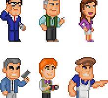 Superman Allies Pixel Figure Sticker Set 2 by Pixelfigures