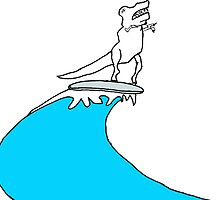 T-Rex Surfing by Roberto A Camacho
