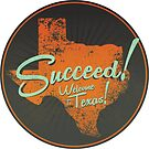 Welcome To Texas! The Sticker by MWMcCullough
