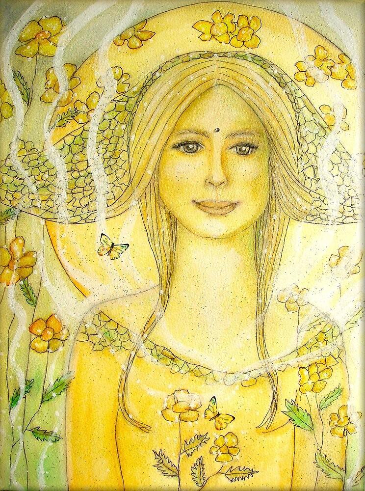 Garden angel by Lilaviolet